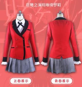 Image 3 - הגעה חדשה באיכות גבוהה אנימה Kakegurui קוספליי תלבושות Jabami Yumeko Momobami Tsukishima Cosplay תלבושות יפני בית ספר אחיד