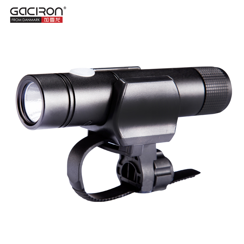 GACIRON Bicycle Light 650 Lumens Flashlight Bike Front Handlebar Light USB Rechargeable Power Bank Waterproof Cycling Torch LED gaciron professional 1600 lumens bicycle light power bank waterproof usb rechargeable bike light flashlight
