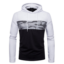 New Autumn Hoodies Mens Long Sleeve Casual Camouflage Stitching Coat Fashion Hip Hop Pullover Men Brand Sweatshirts