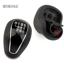MZORANGE 6 Speed Genuine Gear Shift Knob For KIA FORTE Cerato K3 2012 2013-2016 1 pcs Leather Glossy 43711A2300D3B/43711A2300D3B
