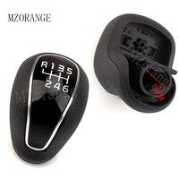 MZORANGE 6 Speed Genuine Gear Shift Knob For KIA FORTE Cerato K3 2012 2013 2016 1 pcs Leather Glossy 43711A2300D3B/43711A2300D3B