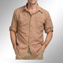 Military männer tactical hemd armee stil langarm atmungs fast dry shirts schwarz M-XXL kampf shirts