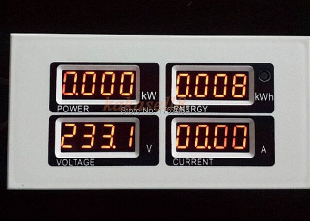 100A AC Digital LED Power Meter Monitor Voltage KWh Time Watt Voltmeter Ammeter free shipping