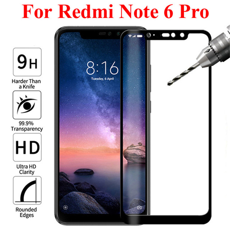 3D For Xiaomi Redmi Note 6 Pro Full Cover Screen Protector Protective Tempered Glass For Xiaomi Redmi 6 Pro 6pro pro6 Film Glas(China)