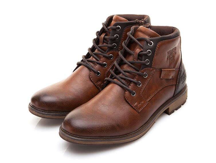Automne hiver hommes bottes grande taille Style Vintage hommes chaussures décontracté mode Zip bottes