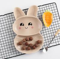 Children's plate design kindergarten baby plate cartoon household ceramic bowl lovely breakfast tray