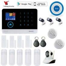 Yobang Security wireless wifi gsm alarm system TFT display door sensor home security alarm systems Wireless Smoke Detector kit