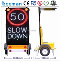 Leeman P25 LED Solar VMS traffic display trailer arrow board trailer Australian Standard VMS mobile outdoor solar led trailer