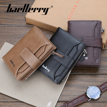 Baellerry Solid 3 Color Men Short Wallet PU Leather Zipper N Hasp Wallet Coin Pocket Card Photo Holder Wallet Men Porta MoneyBag baellerry men solid black long wallet pu leather zipper n rope wallet coin pocket card holder photo holder business wallet men
