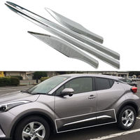 BBQ@FUKA Chrome ABS Car Side Door Body Cover Moulding Trim Strip Car Exterior Accessories Fit for TOYOTA C HR CHR 2016 2017 2018
