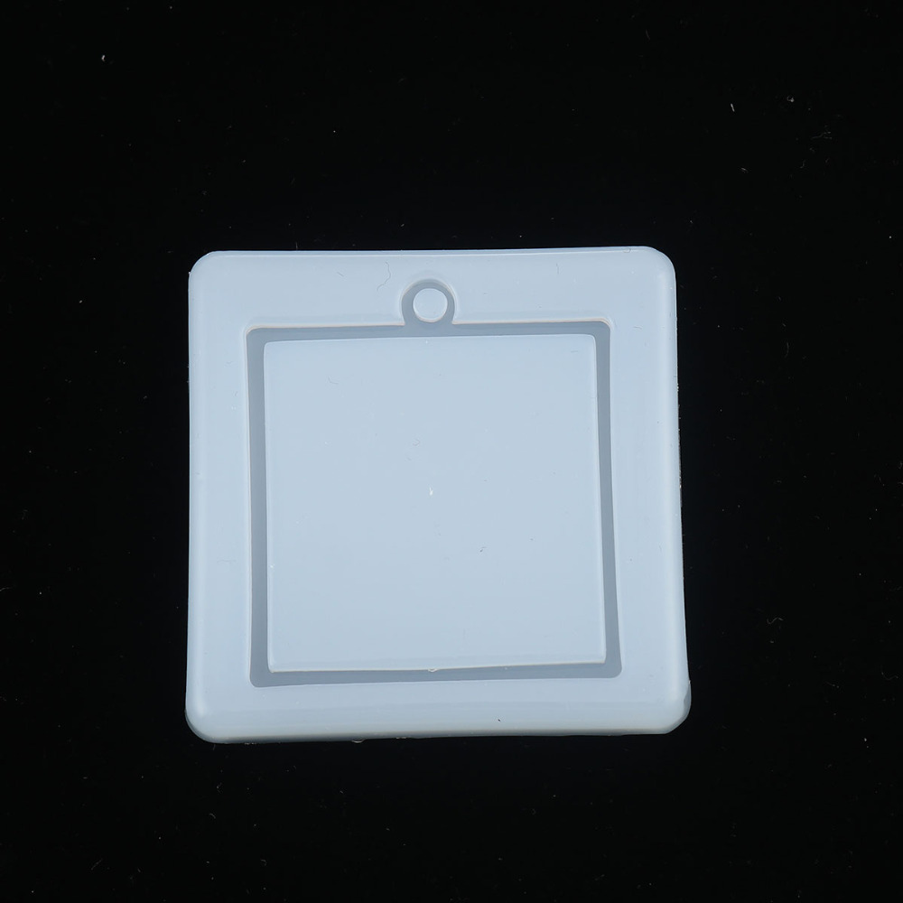 Doreen Box Silicone Resin Mold For Jewelry DIY Making Geometric Square White Jewelry Tools 57mm(2 2/8