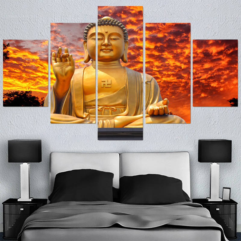 Factory Sale Gold Buddha Canvas Painting Wall