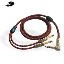 Hifi Stereo 6.35mm to Dual 6.35mm Audio Cable 1/4 Inch TRS Plug Mixer Speaker Amplifier Cord Right Angle 1M 2M 3M 5M 8M