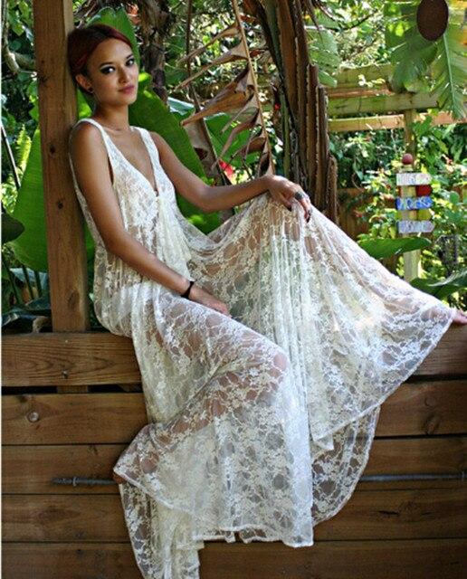 3d3e3975d336 NEW! Fashion Women Honeymoon White Lace Maxi Dress , Women Summer Beach  Dress, Sexy Beach Wear, In Stock