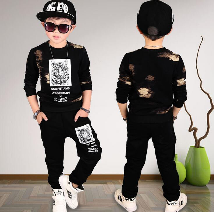 Boys Clothing Set Children Sport Suits Kids Fashion Autumn Baby Boy Full Sleeves Sweatshirts Tops + Pants Outfits Tracksuits baby boys girls velvet children clothing set boy cartoon hoodies pants suits autumn newborn kids wear christmas costume infantil