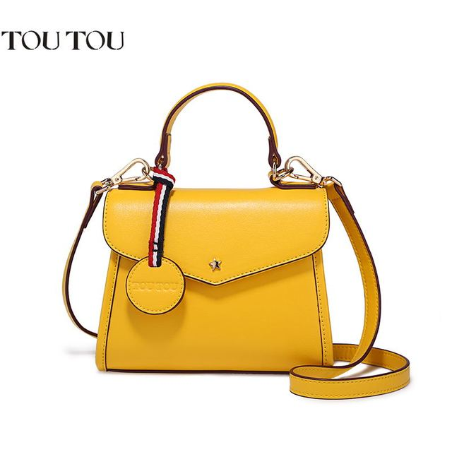 f8cc1776b0eca TOUTOU handbag Women s single shoulder bag famous luxury brand designer  handbags fashion star brand new bag Free shipping yellow
