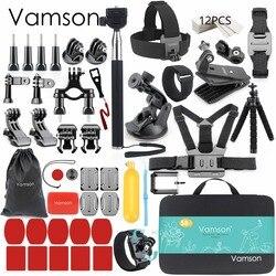 Vamson для Gopro аксессуары набор для go pro hero 7 6 5 4 комплект крепление для SJCAM для SJ4000/для xiaomi для Yi 4k для eken h9 VS84