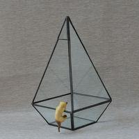 Factory Wholesale New Creative Environmental Indoor Flower Glass Greenhouse Glass Box Art Glass Vase Flower Bonsai