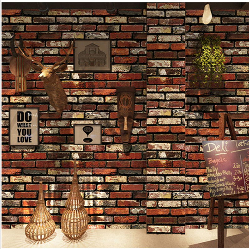 Vintage Wall Bricks Pattern Wall Sticker Self Adhesive Wallpaper For Kitchen Living Room Waterproof Wall paper For 3D Home DecorVintage Wall Bricks Pattern Wall Sticker Self Adhesive Wallpaper For Kitchen Living Room Waterproof Wall paper For 3D Home Decor