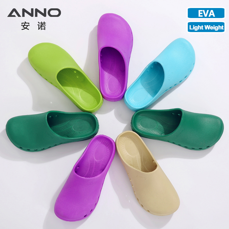 ANNO EVA Surgical Slippers Soft Hospital Medical Shoes Light Summer Nurse Shoes Salon Resistant Work Clogs Doctor Sink Clog