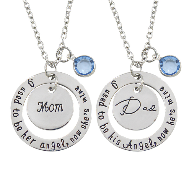 2017 new arrive fashion motherdaddys day gift dad mom tag bread 2017 new arrive fashion motherdaddys day gift dad mom tag bread pendant necklace alloy round letting aloadofball Choice Image
