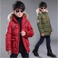 2016 das crianças roupas de menino grande de algodão virgem moda jaqueta casual jaqueta grossa de inverno das crianças meninos roupas 2-14 anos