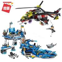 Enlighten 2720 Building Block High Tech Era Shark Cruiser Figures Educational Technic Bricks Toy For Children