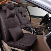 AutoDecorun 22PCS/Set Genuine Leather Seat Covers for Mitsubishi Pajero Sport Accessories Seat Cover 7 Seats Protector 2011 2015