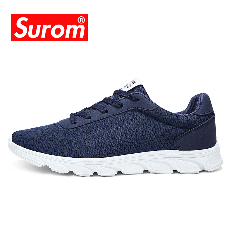SUROM Men Sport Outdoor Lightweight Running Shoes Breathable Mesh Summer Sneakers Footwear Walking Athletic Shoes Men Krasovki ...