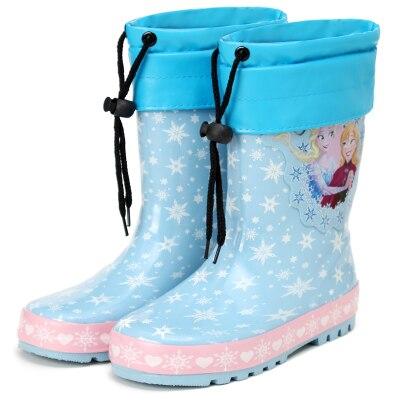 Принцесса Снежная страна детей галоши private нескользящая обувь детские сапоги детские водонепроницаемая обувь теплый семейный