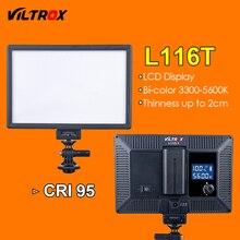 Viltrox L116T Luz de Vídeo LED LCD Ultra thin Bicolor y regulable Panel de Luz LED de La Lámpara de Estudio DSLR para La Cámara DV videocámara