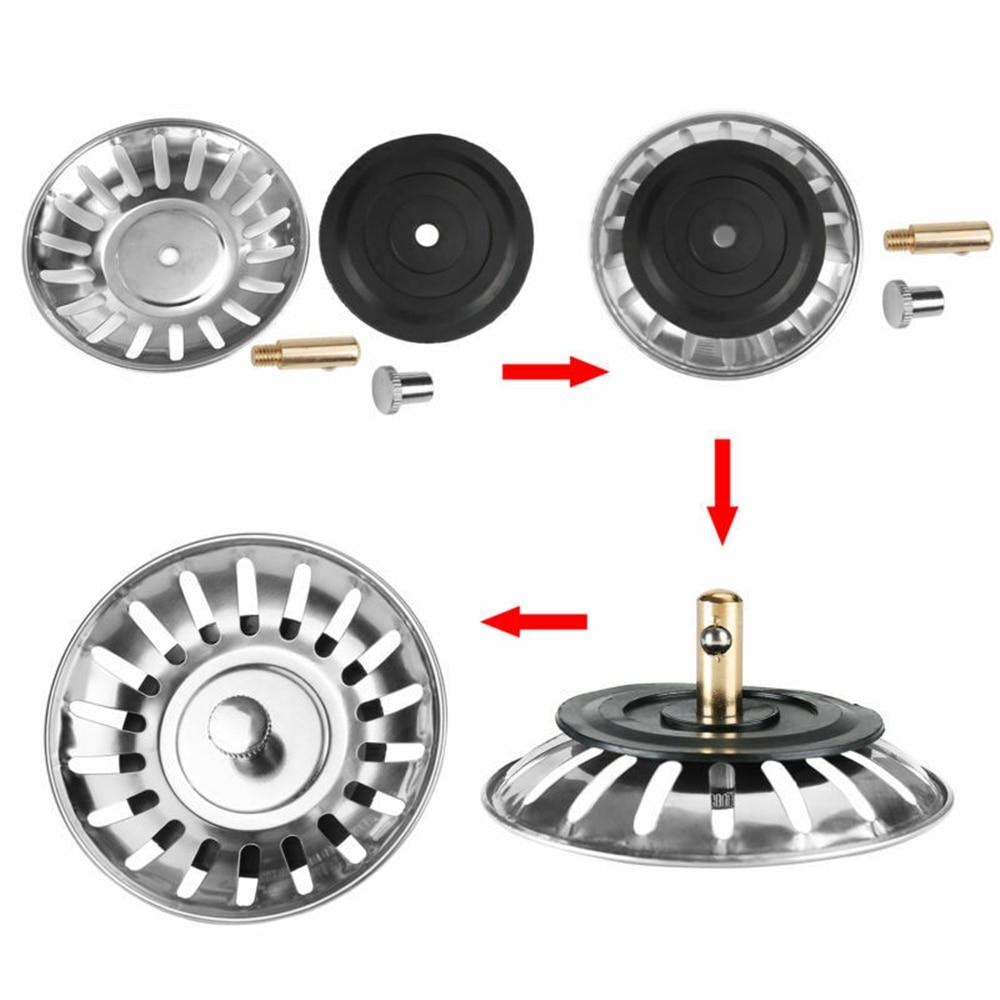 ФИЛЬТР-пробка для кухонной раковины, крышка из нержавеющей стали для ванной комнаты, ловушка для волос, ловушка для пола, заглушка для раковины, Filtre lavabo