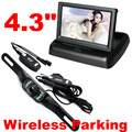 "Wireless Rear view Car Camera Monitor system wifi parking reversing backup camera kit w/ 4.3"" tft lcd dash Monitor foldable 12v"
