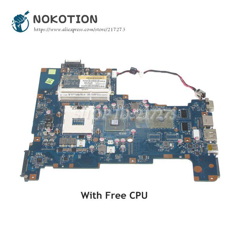все цены на NOKOTION For Toshiba Satellite L670 L675 Laptop Motherboard NALAA LA-6042P K000103810 HM55 DDR3 HD4500 graphics Free CPU онлайн