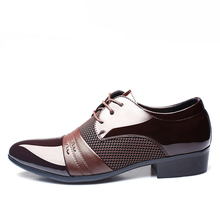 YWEEN Men Business Flat Shoes Breathable Formal Office Shoes Plus Size 38-47