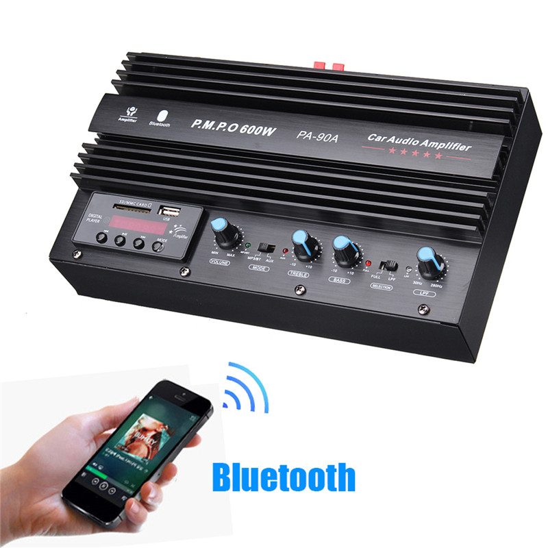 Wireless Bluetooth Version Audio Amplifier Input USB/AUX/SD/FM Radio Class AB 1500W HIFI Power Amplifier With Remote Control цена