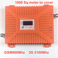 2016 novo 900 mhz + 2100 mhz 22 dbm ganho 65dbi display LCD bandas duplas GSM + 3G impulsionador repetidor dual bandas WCDMA impulsionador repetidor