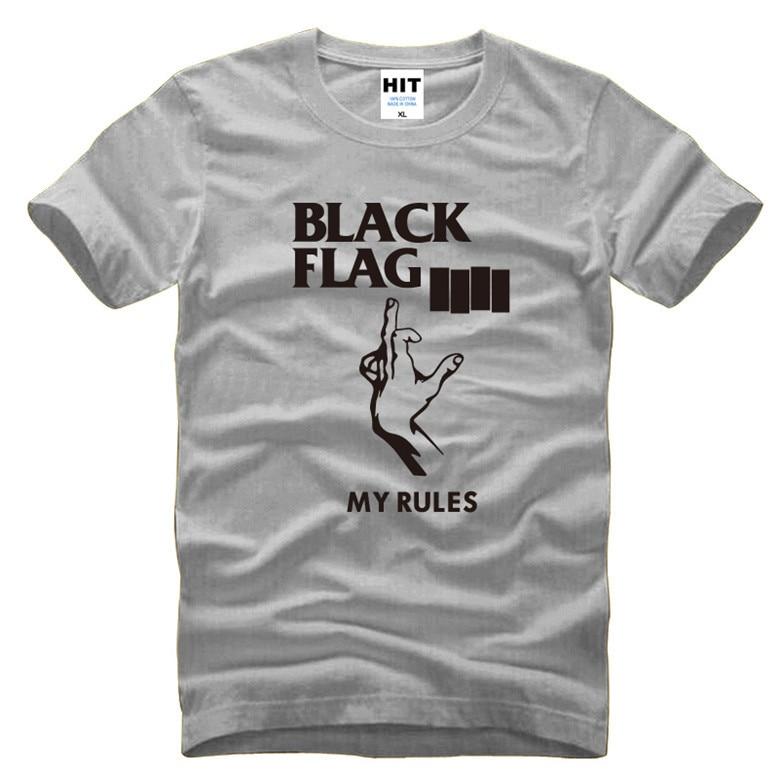 American Punk Rock Band Black Flag Mens Men T Shirt Tshirt Fashion 2016 New Short Sleeve Cotton T-shirt Tee Camisetas Hombre