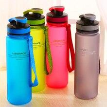 500/650/1000 ML Botella de Agua Del Deporte Al Aire Libre Tazas de Viaje Libre de BPA de Matorral Portátil Té Taza Plástica del Espacio Bike Ciclismo Shaker garrafa