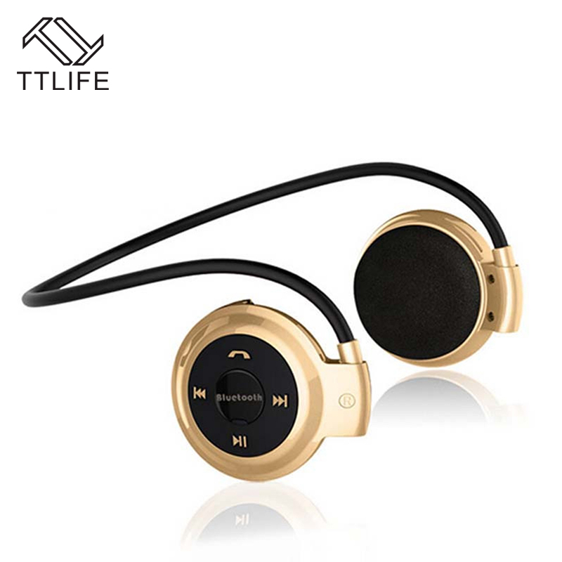 TTLIFE Wireless Headphones Bluetooth Mini 503 Sport Music Stereo Earphones+Micro SD Card Slot+FM Radio Mini503