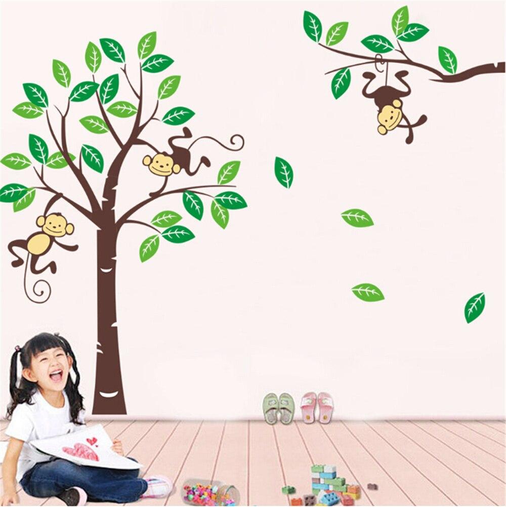 ZY1206Deep forest monkeys vinyl <font><b>wall</b></font> <font><b>stickers</b></font> for kids rooms children home decor sofa living <font><b>wall</b></font> decals child <font><b>sticker</b></font> wallpaper