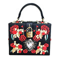 totes ladies shoulder bag Luxurious heart-shaped diamond pearl rose embroidery design fashion party handbag
