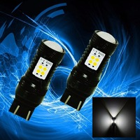 PA LED 2pcs X W21 5W T20 7443 14SMD 3030 SMD LED White Tail Lamp Brake