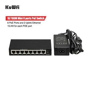 Image 4 - 10/100 Mbps 48 V POE Switch di Rete con 6 Porte PoE e 2 Uplink Ethernet IEEE 802.3af Supporto MDI/ MDIX 15.4 W Per Porta POE