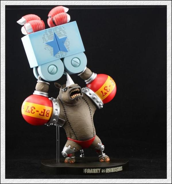New 35cm Rhino FRANKY One Piece Animation Collection Action Figure Model Toy Free Shipping