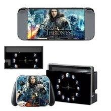 Game of Thrones GOT Skin Sticker vinyl for NintendoSwitch Sticker Skin for Nintendo Switch NS Console and Joy-Con Controller