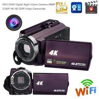 Portable Camcorder Digital IR Night Vision Camera 48MP 2160P 4K HD WiFi DVR 16X Digital Video Camcorder With 3.0