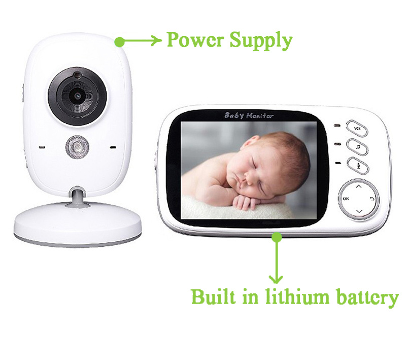 New video nanny babysitter 3.2inch IR Night vision 2 way talk 8 lullabies Temperature monitor baba electronics radio babysitter (10).jpg