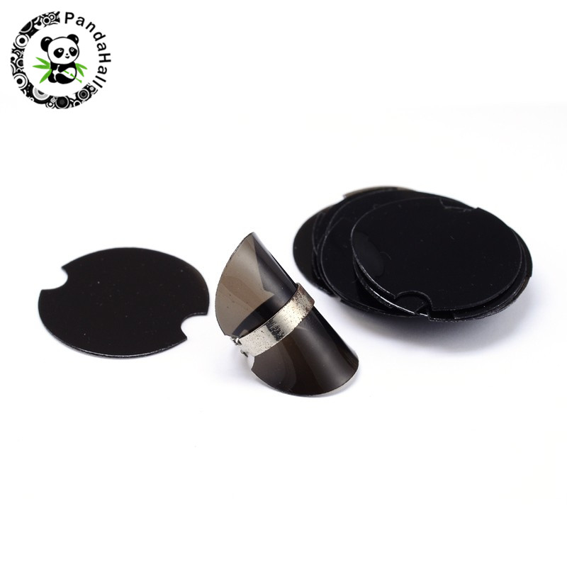 38.5mm 100pcs/bag Round Soft Plastic Jewelry Rings Display Stand Showcase