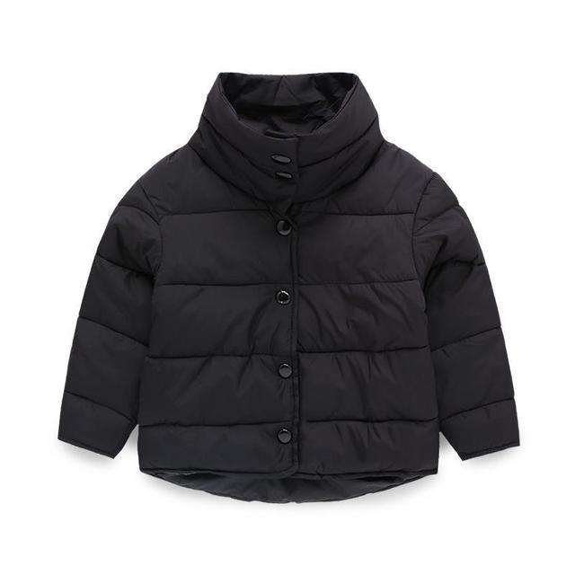 2017 crianças de inverno de algodão-acolchoado Parkas roupas, bebê girls & boys gola brasão jaquetas, crianças casacos outwears 3-9 Anos